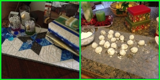 Hanukkah Decorations And Christmas Cookies - Mosaic Monday