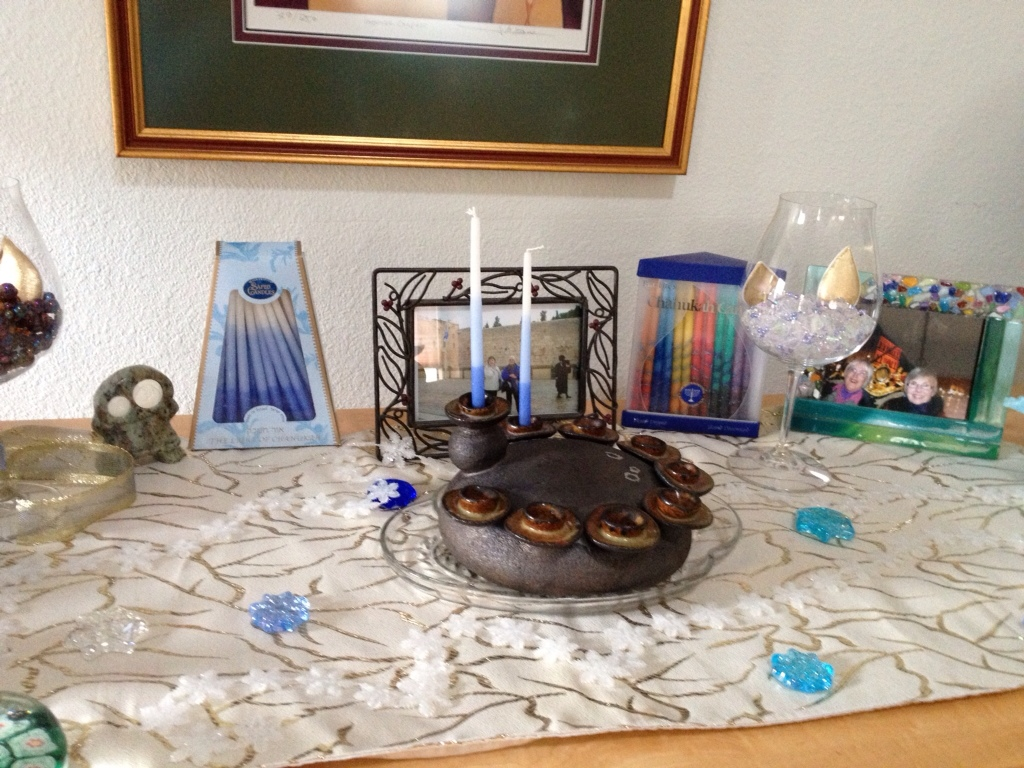 Hanukkah Menorah Ready To Light
